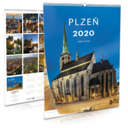 Plzeň / nástěnný kalendář na rok 2020-Letecké i pozemní snímky L. Sváčka