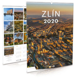 Zlín / nástěnný kalendář na rok 2020-Letecké i pozemní snímky L. Sváčka