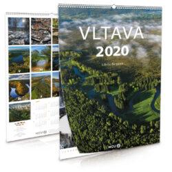 Vltava / nástěnný kalendář na rok 2020-Letecké i pozemní snímky L. Sváčka