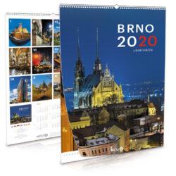 Brno / nástěnný kalendář na rok 2020-Letecké i pozemní snímky L. Sváčka