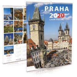 Praha / nástěnný kalendář na rok 2020-Letecké i pozemní snímky L. Sváčka