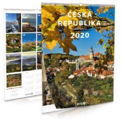 Česká republika / nástěnný kalendář na rok 2020-Letecké i pozemní snímky L. Sváčka