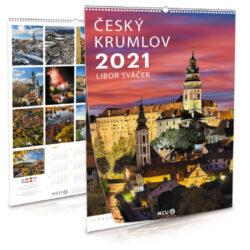 Český Krumlov / nástěnný kalendář na rok 2021 na výšku-Letecké i pozemní snímky L. Sváčka