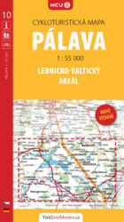 Pálava - Lednicko-valtický areál / cykloturistická mapa č. 10  1:55 000-Cyklomapa okolí Novomlýnských nádrží, Pavlovských vrchů (Pálavy) a Lednicko-valtického areálu.