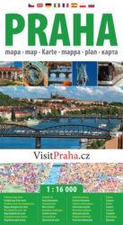 Praha / plán města  1:16 000-Plán centra Prahy v měřítku 1:16 000.