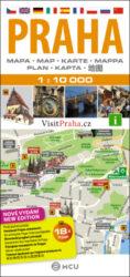 Praha / plán města  1:10 000-Plán centra Prahy v měřítku 1:10 000.