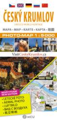 Český Krumlov / plán města 1:5 000-Plán centra Českého Krumlova v měřítku 1:5 000 kombinovaný s fotomapou.