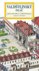 Valdštejnský palác / panoramatická mapa-Kreslená panoramatická mapa Valdštejnského paláce s ilustrovaným průvodcem