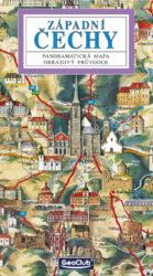 Západní Čechy / panoramatická mapa-Kreslená panoramatická mapa západních Čech s ilustrovaným průvodcem