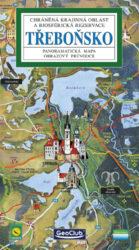 Třeboňsko / panoramatická mapa-Kreslená panoramatická mapa Třeboňska s ilustrovaným průvodcem