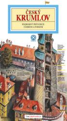 Český Krumlov - zámek / panoramatická mapa-Kreslený panoramatický průvodce zámkem a parkem