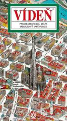 Vídeň / panoramatická mapa-Kreslená panoramatická mapa Vídně s ilustrovaným průvodcem