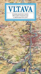 Vltava / panoramatická mapa-Kreslená panoramatická mapa s ilustrovaným průvodcem památkami a dějinami Povltaví