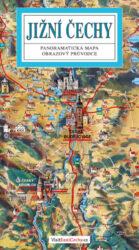 Jižní Čechy / panoramatická mapa-Kreslená panoramatická mapa jižních Čech s ilustrovaným průvodcem
