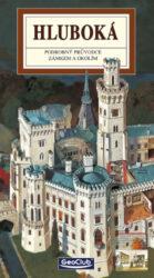 Hluboká / panoramatická mapa-Kreslená panoramatická mapa zámku Hluboká s podrobným ilustrovaným průvodcem