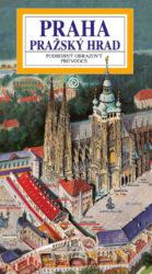 Pražský hrad / panoramatická mapa-Kreslená panoramatická mapa areálu Pražského hradu s podrobným ilustrovaným průvodcem