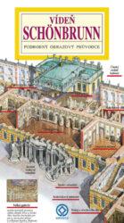 Vídeň - Schönbrunn / panoramatická mapa-Kreslená panoramatická mapa vídeňské letní rezidence rakouských císařů s ilustrovaným průvodcem