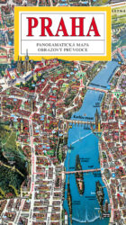 Praha / panoramatická mapa velká-Kreslená panoramatická mapa Prahy s podrobným ilustrovaným průvodcem
