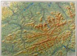 Beskydy / plastická mapa 1:100 000