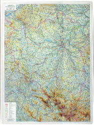 Plzeňský kraj / plastická mapa 1:155 000