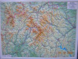 Jeseníky / plastická mapa  1:80 000
