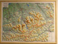 Beskydy / plastická mapa  1:66 666
