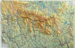 Krkonoše / plastická mapa  1:66 666